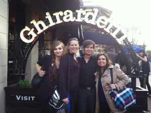 PRSSA reps Kelcie Borton, Heather Wise, Sean Fraser, and Maria Vela In San Francisco for National Conference.