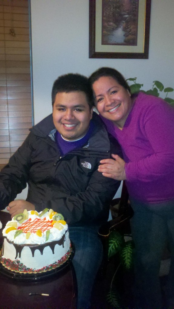Michael Lopez and his mom celebrate his birthday last December. Photo courtesy of Michael.