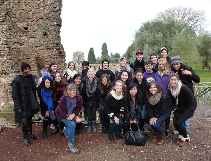 Rome class at Villa Adriana
