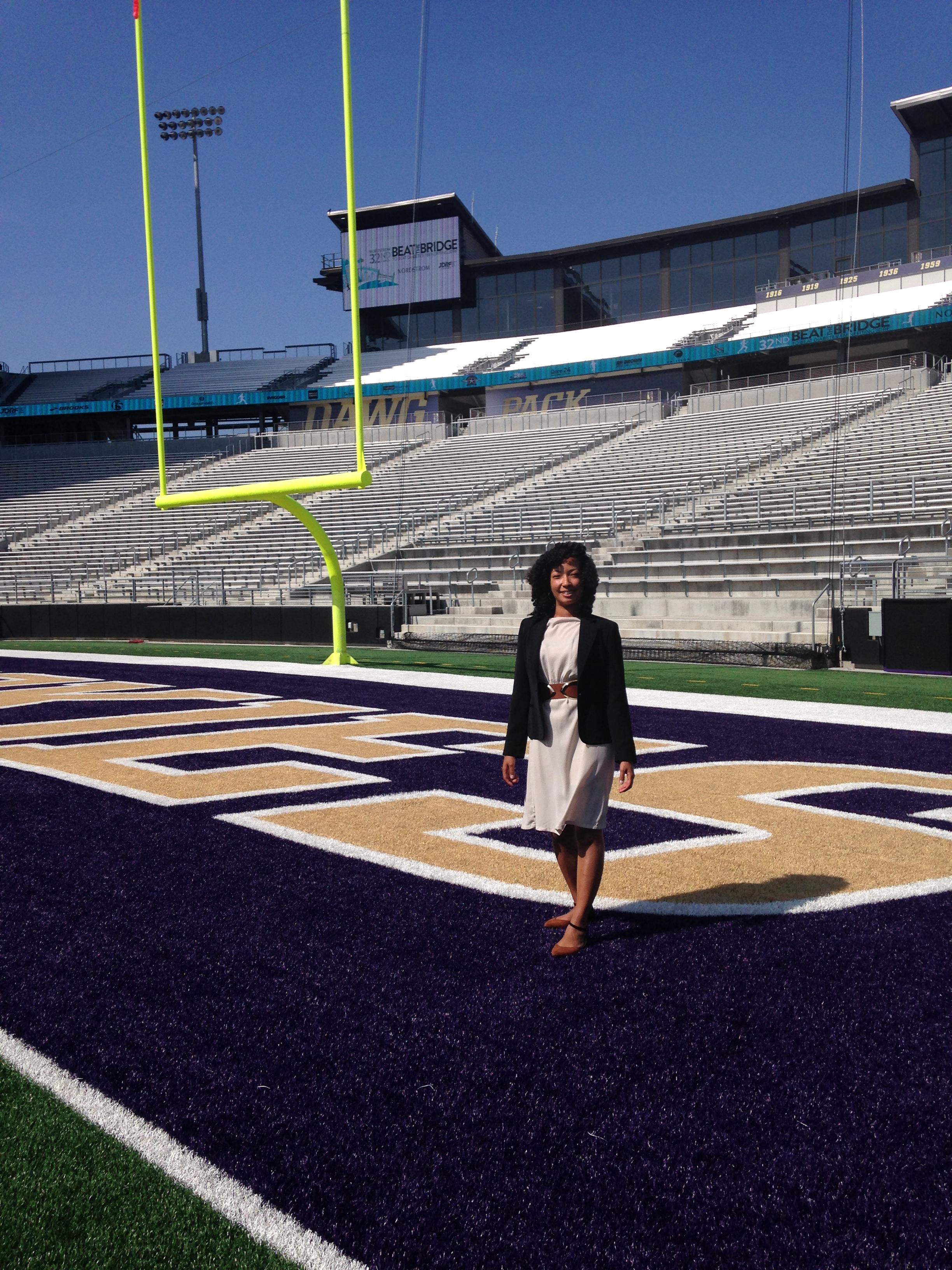 Felicia at Husky Stadium