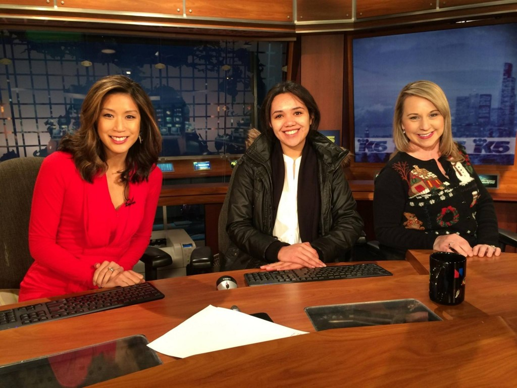 Kierra Elfalan at KING 5 news desk