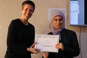 Anita with Esraa Al Khatee