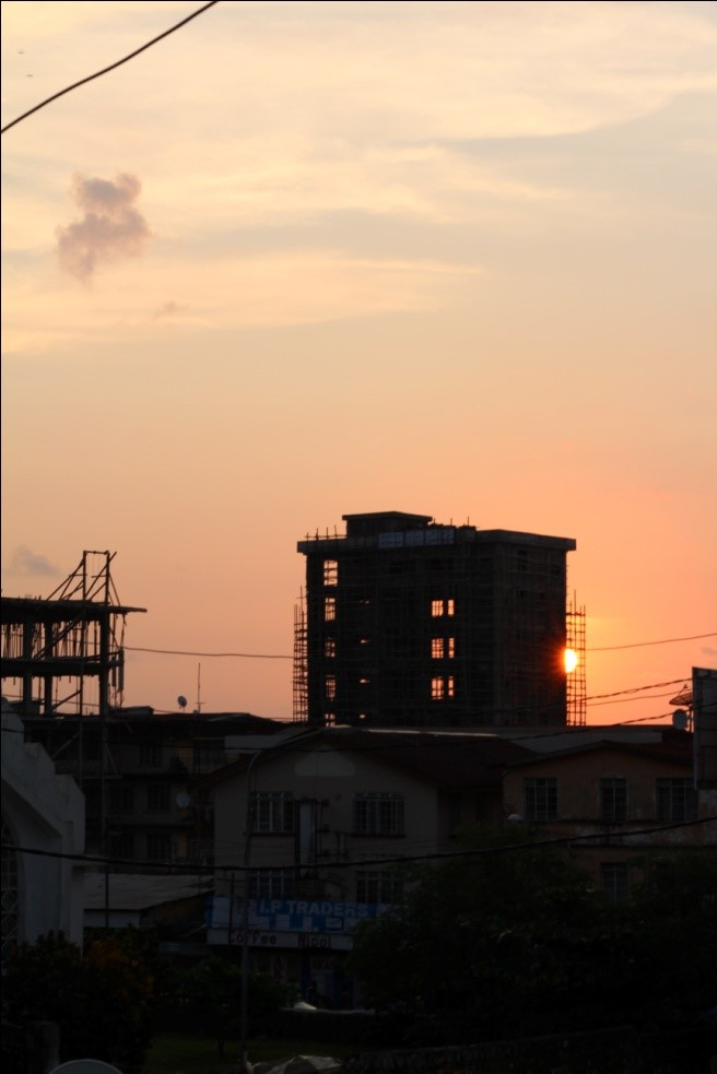 Sunset from the Awoko office.